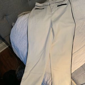 Misguided causal white trouser